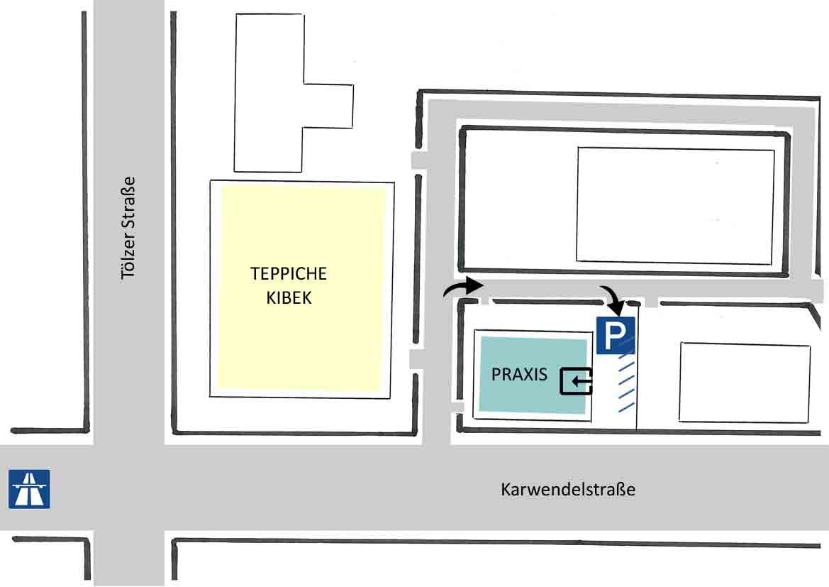 Anfahrt Praxis Baklayan Psychotherapie Neurofeedback München Süd